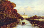 View of the St. Michael Palace in St. Petersburg from the Swan Canal.