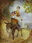 Portrait of O. P. Ferzen on a Donkeyback.
