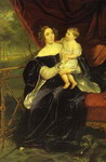 Portrait of Countess O. I. Orlova-Davydova and Her Daughter.