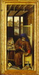 The Annunciation. (The Merode Altarpiece). The right panel of the triptych.