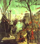 The Legend of St. Ursula: Arrival in Cologne.