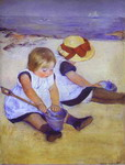 Two Children at the Seashore.