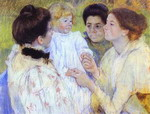 Women Admiring a Child.