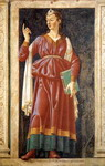 The Camaean Sibyl. From the Cycle of Famous Men and Women. Detached fresco