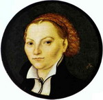 Portrait of Katharina von Bora, Wife of Martin Luther.