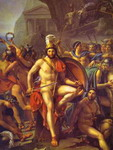 Leonidas at Thermopylae. Detail.