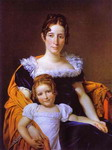Portrait of the Countess Vilain XIIII and Her Daughter.