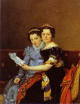 Portrait of Charlotte and Zénaide Bonaparte.