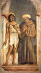 St. John the Baptist and St. Francis. Detached fresco