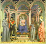 The Madonna and Child Enthroned with SS. Francis, John the Baptist, Zenobius and Lucy.