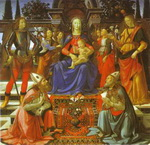 Madonna and Child Enthroned with Four Angels,