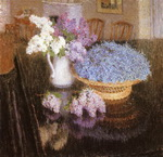 Lilacs and Forget-Me-Nots.