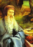St Anthony Visiting St Paul the Hermit in the Desert.