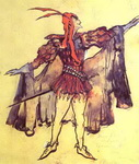 Costume design for Arrigo Boito's opera Faust.