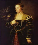 Portrait of Titian's Daughter Lavinia.