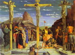 Calvary. Center of the predella painted for the Church of San Zeno in Verona.