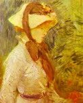 Young Woman with a Straw Hat.