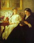 The Mother and Sister of the Artist (Reading).