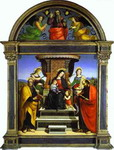 Madonna and Child Enthroned with Saints.