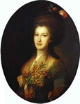 Portrait of Countess Elizaveta Santi