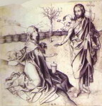 Christ and Mary Magdalene.