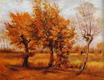 Autumn Landscape with Four Trees.