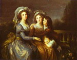 The Marquise de Peze and the Marquise de Rouget with Her Two Children.