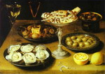 Still Life with Oysters and Pastries