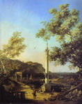 Capriccio: River Landscape with a Column, a Ruined Roman Arch, and Reminiscences of England.