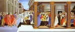 Alessandro Botticelli. Baptism of St. Zenobius and his Appointment as Bishop.