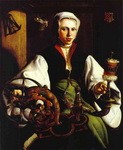 Portrait of a Lady with a Spindle and Distaff.