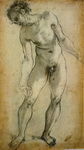 Male Nude. Study for the Deposition of Christ.
